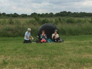 Picnic time on the North Cheshire Way - June 2016